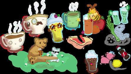 Cafe Menu Illustrations by iiwik