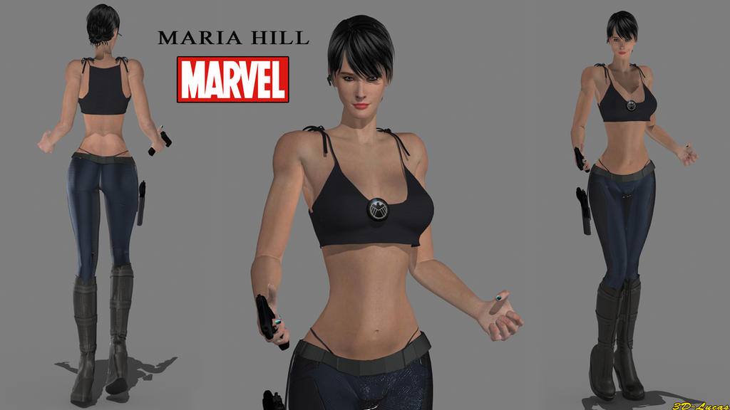 Maria Hill by 3d-lucas