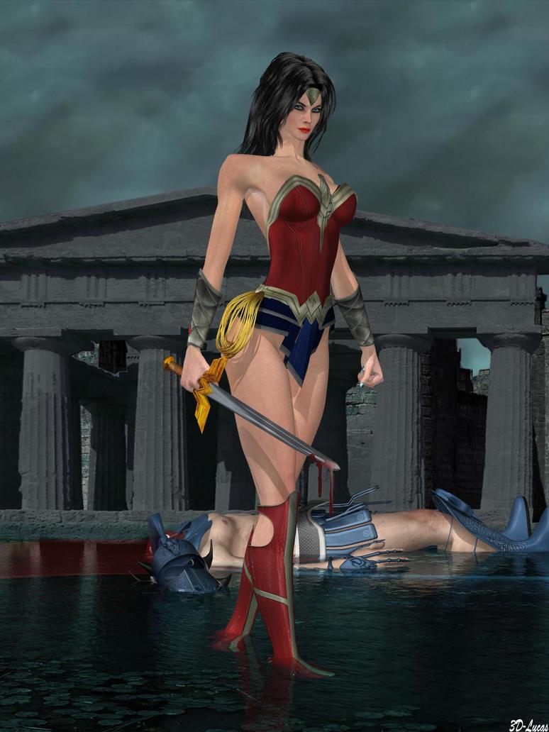 Wonder Woman Vs. Ares by 3d-lucas