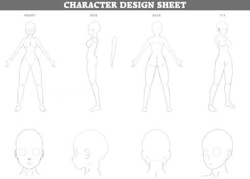 F2U Character Design Visual Sheet