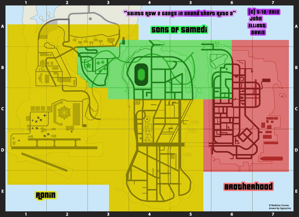 Saints Row 2 Gangs in GTA 3 - Map by LittleGreenGamer on ...