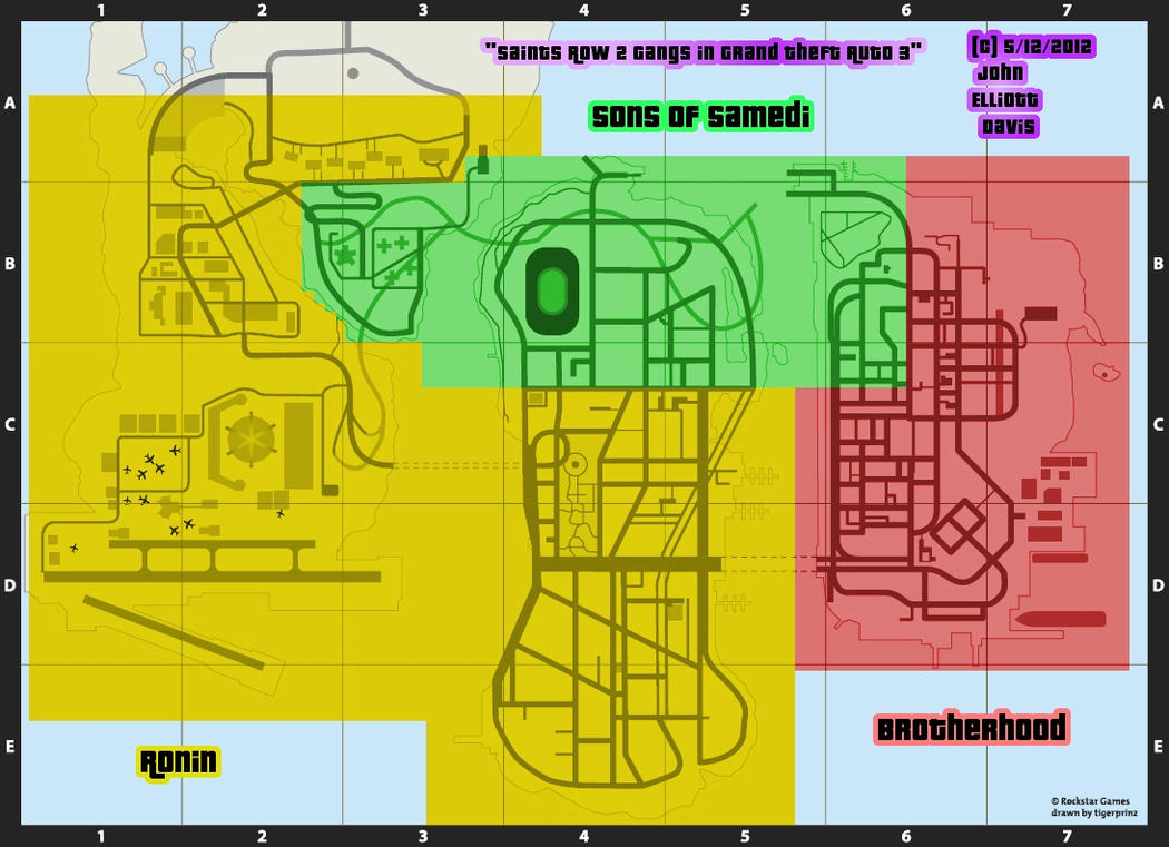 Saints Row 2 Gangs in GTA 3 - Map by LittleGreenGamer on ...