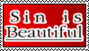 Sin is Beautiful - stamp by LittleGreenGamer