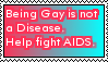 help fight AIDS stamp by LittleGreenGamer
