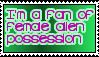 I Love Female Alien Possession Stamp by LittleGreenGamer