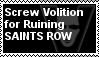 Stamp: Screw Volition For Ruining Saints Row by LittleGreenGamer