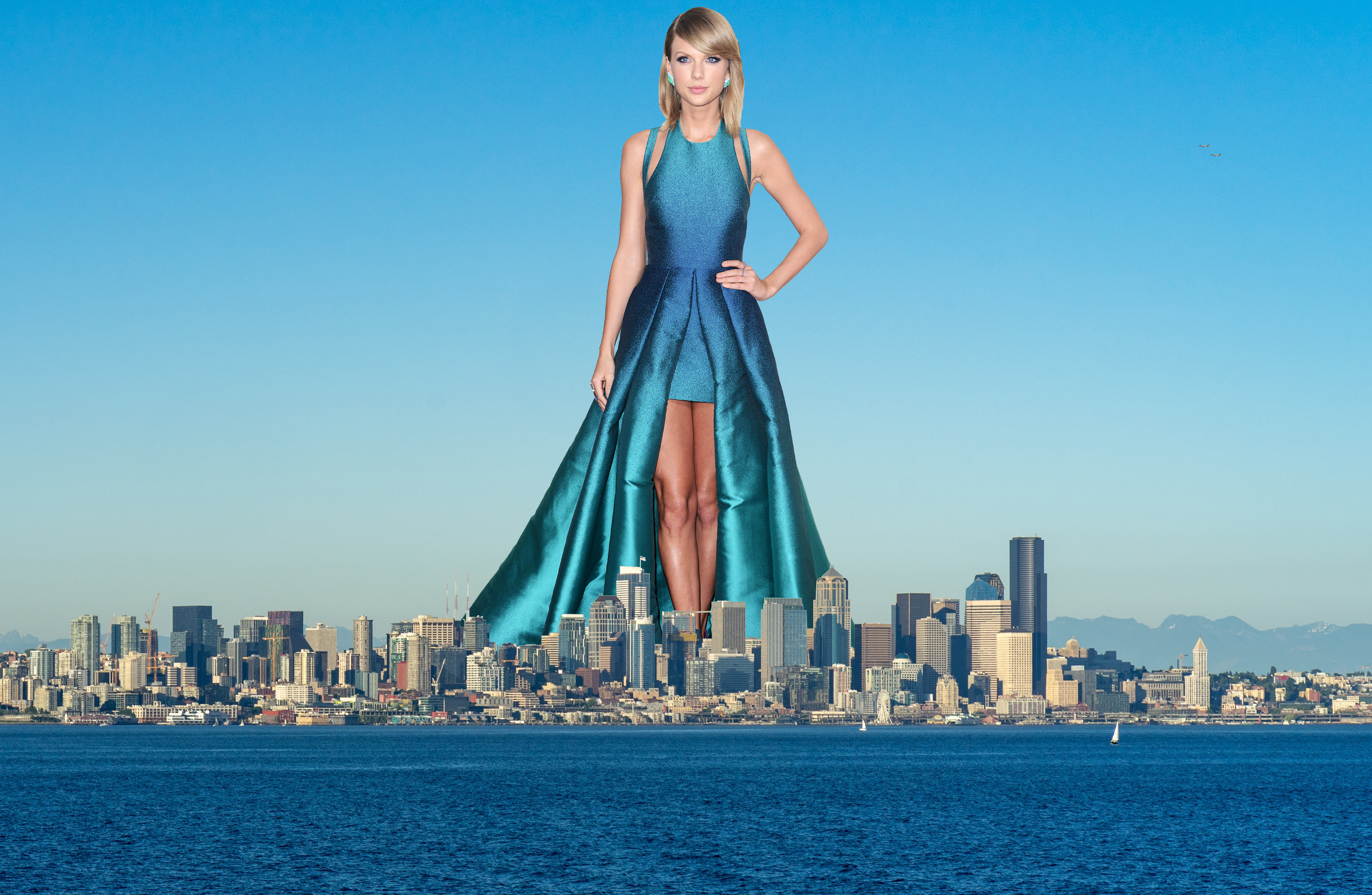 Giantess Taylor Swift In Seattle By 870express On Deviantart