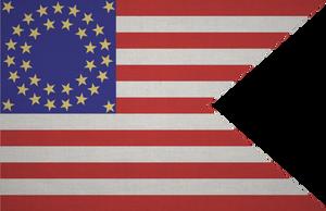 Union Cavalry Flag Grunge by ShadowOrder