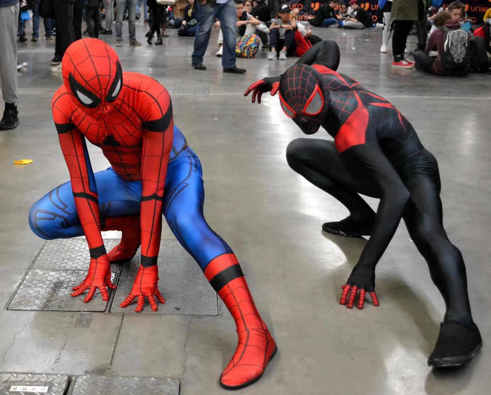 two spiderman by illydragonfly on deviantart
