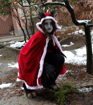 There is a Krampus in my garden!