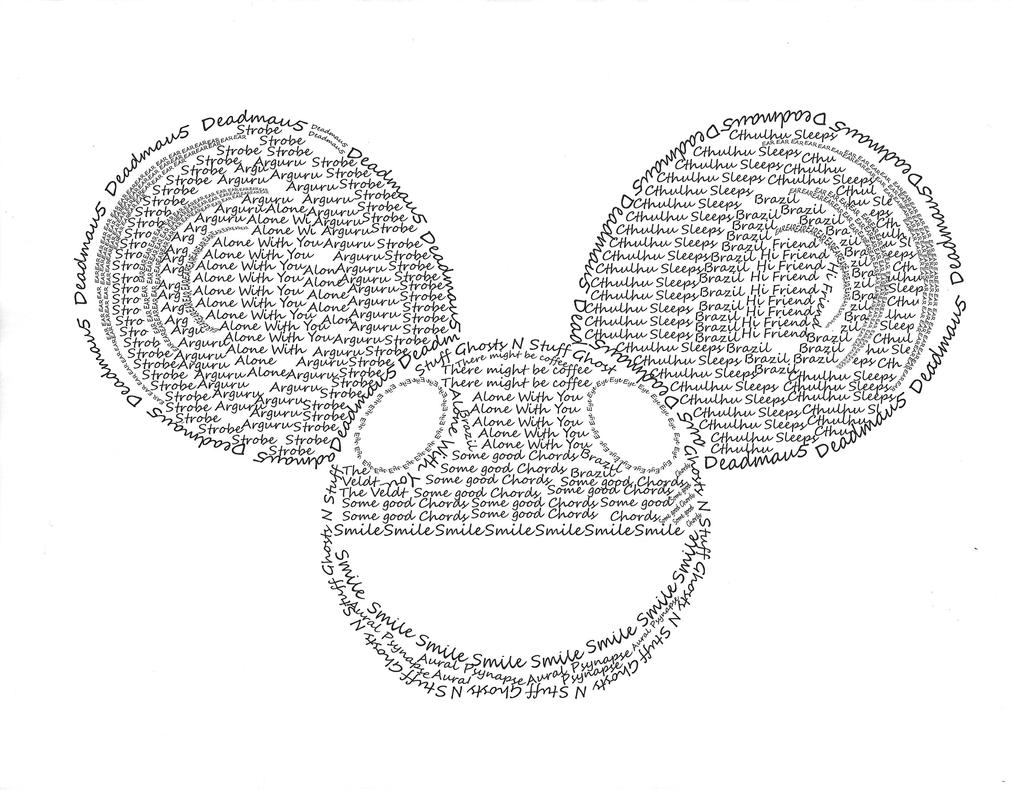 Mau5head made with text by ElectricBlueTempest on DeviantArt