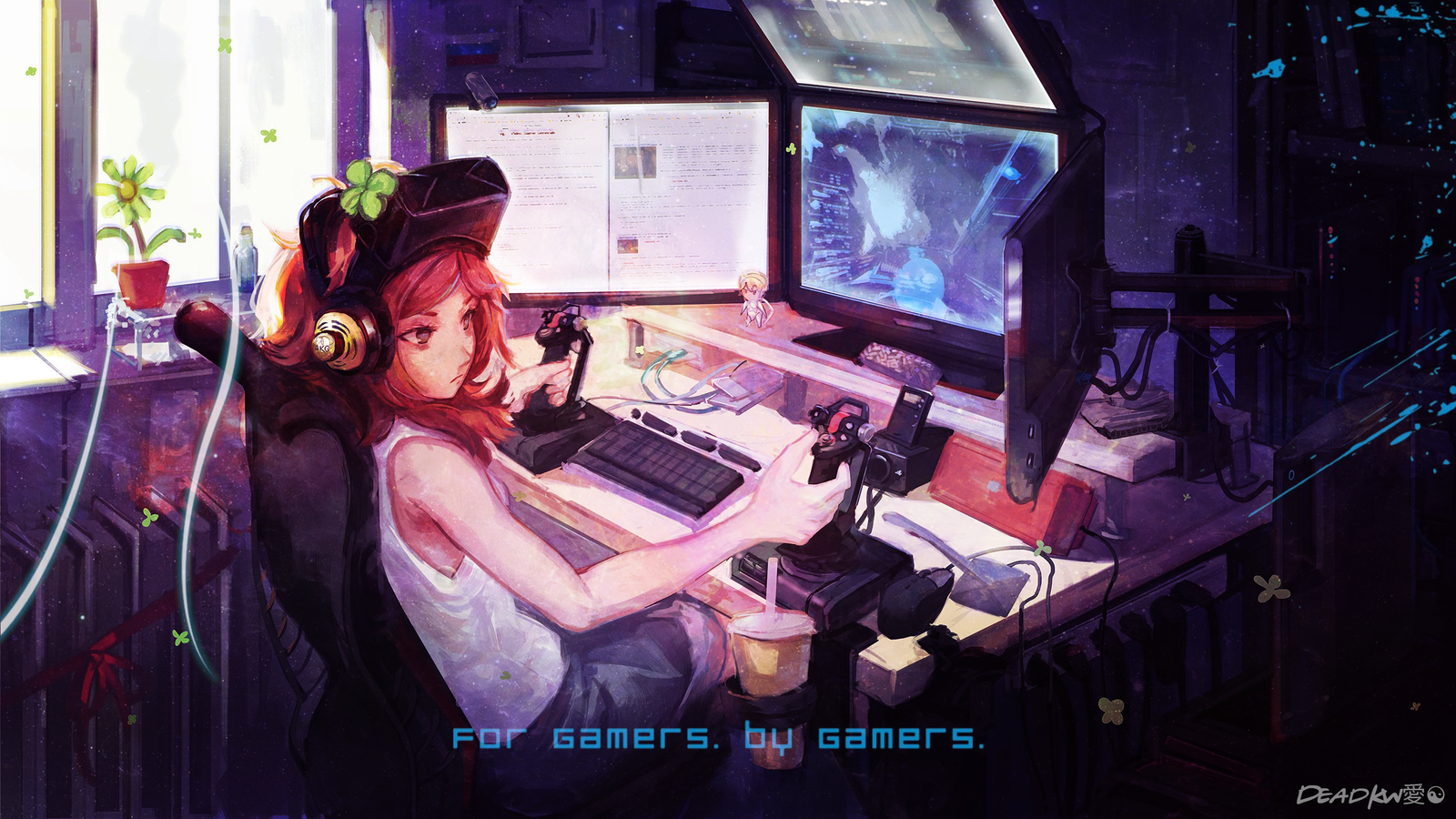 Wallpaper Anime Gamer Hd By Deadkw On Deviantart