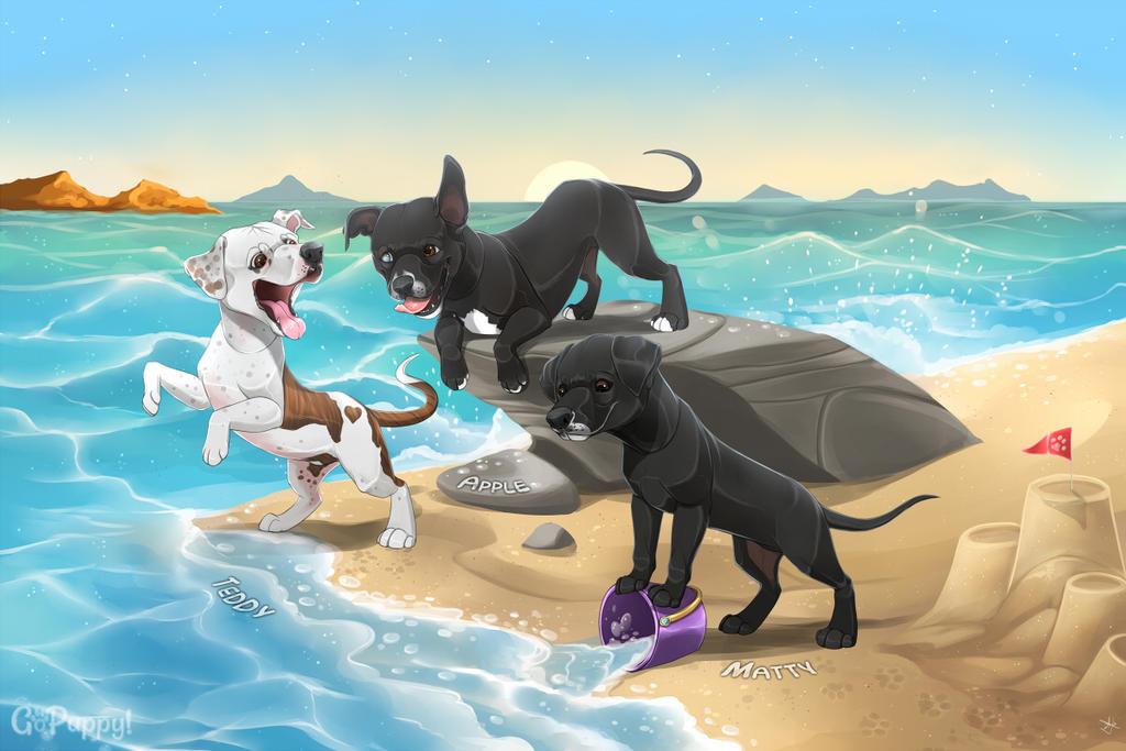 A Beach Day! by GoPuppy
