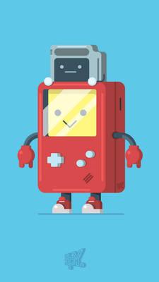 Game Boy and Cartridge Kid