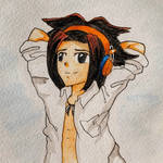 Chilling Yoh Asakura   by Vereline