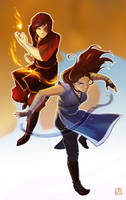 Avatar - Katara and Zuko by om-nom-berries