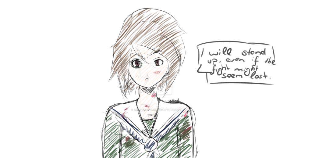 Scribble Hikari Yagami by LisaTheHuman