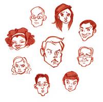 Community of Floating Heads by raddishh