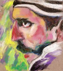 Eugene Hutz pastel by AySquid