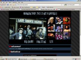 Old website design: Red Dwarf by jadedlioness