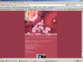 Old website design: Rose Quartz by jadedlioness