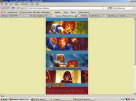Old website design: Alanna the Lioness by jadedlioness