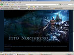 Old website design: Wrath of the Lich King