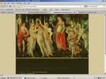 Old website design: Art History
