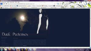 Old website design: Dark Pretenses RPG