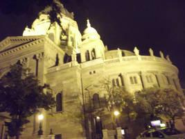 Budapest: St Stephen's Church at Night by jadedlioness