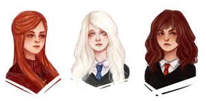 Sketch HP girls