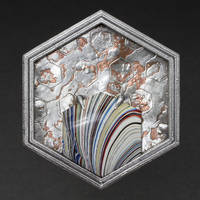 Fordite Brooch by WMVmetalsmithing
