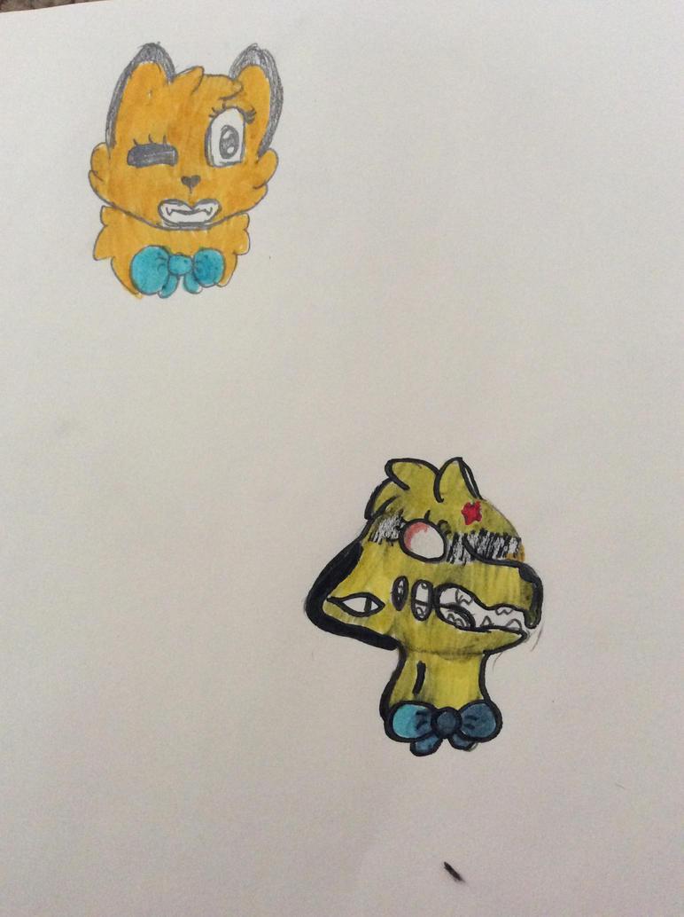 Golden foxy by Shadethewolf345