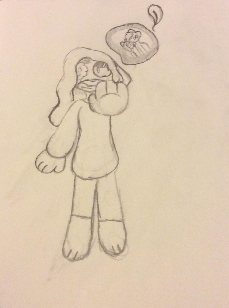 Sketch of plz come back by Shadethewolf345