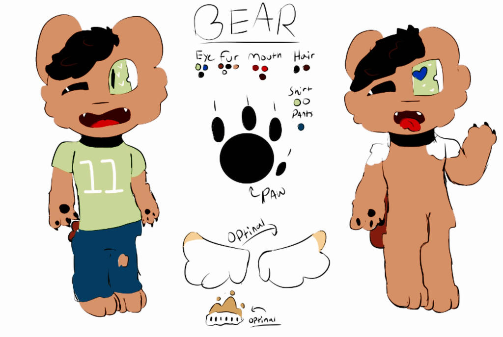 Bear the bear reference sheet 2017 by Shadethewolf345