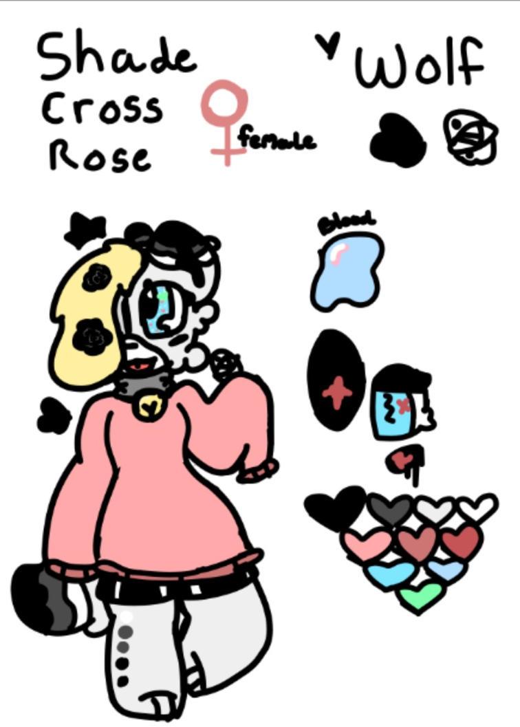 Shade Cross Rose ref sheet by Shadethewolf345