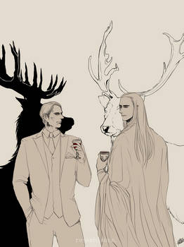 Dr. Lecter and Elvenking Thranduil.