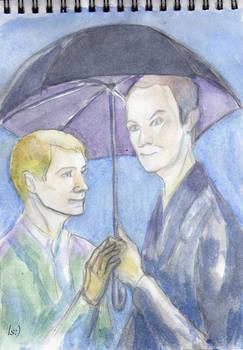 John, Mycroft and Umbrella))