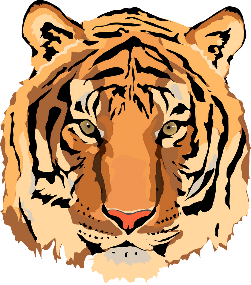free tiger head clip art - photo #37
