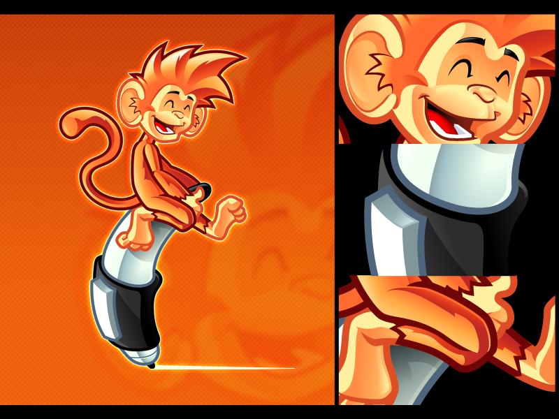 Monkey mascot by pho001boss