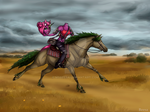 Dullahan and her horse by MsBeesa