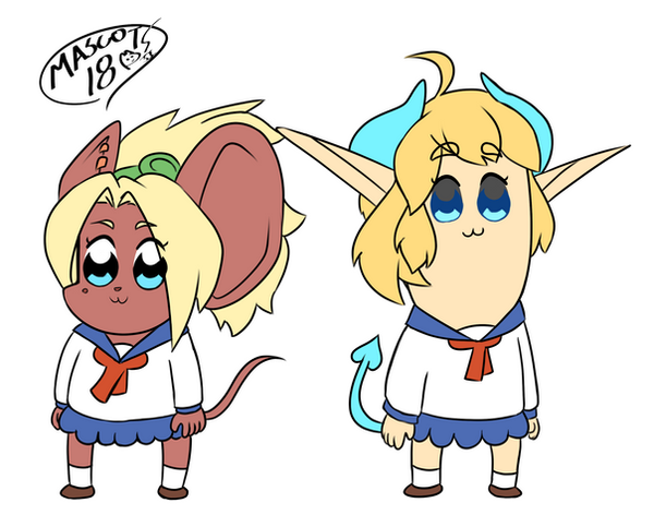 Pop Team OCs (proper eyes) by Mascot1063