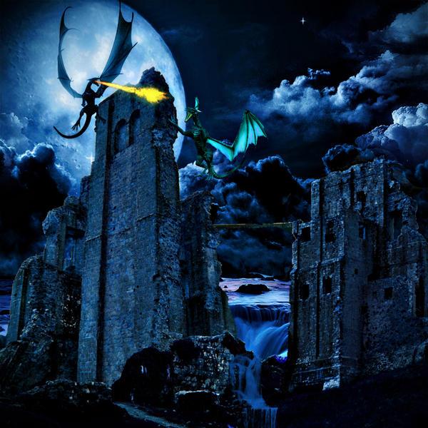 Dragons by Nightfall by krissybdesigns