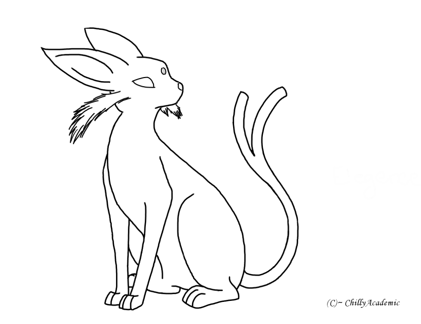 Espeon Lineart By Chillyacademic On Deviantart
