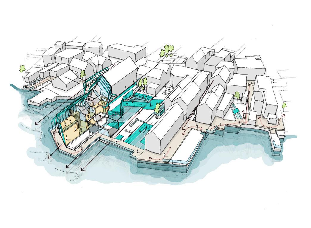 Orkney: Art Corridor Housing Sketch by Meanor
