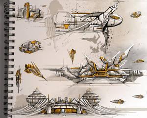 Sci-Fi Architecture Sketches 1