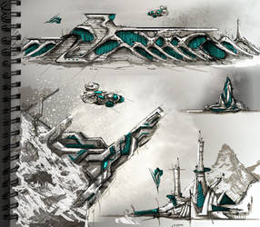 Sci-Fi Architecture Sketches 2