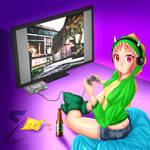 DinoGamer Girl by Slashser
