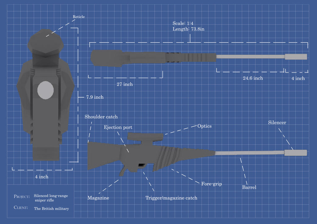 Gun Blueprint by itzthedave