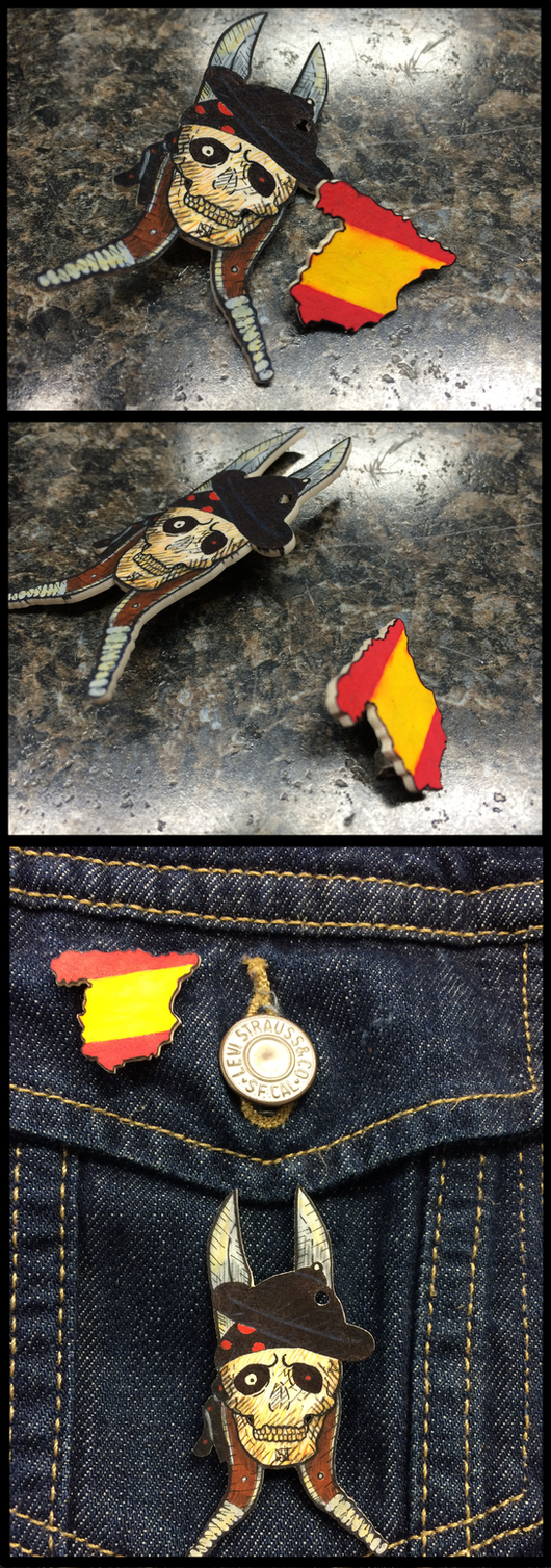 Brooches by SpaniardWithKnives